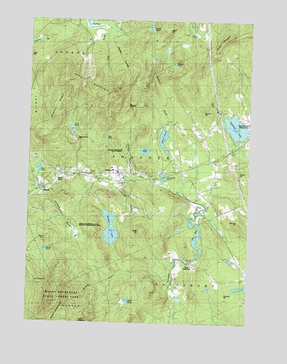 Andover, NH USGS Topographic Map