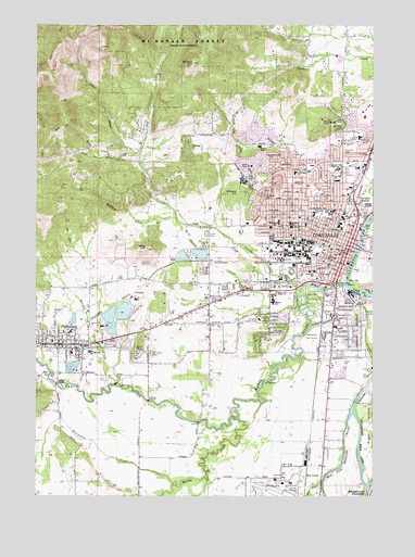 Map Of Corvallis Oregon Corvallis, OR Topographic Map   TopoQuest Map Of Corvallis Oregon