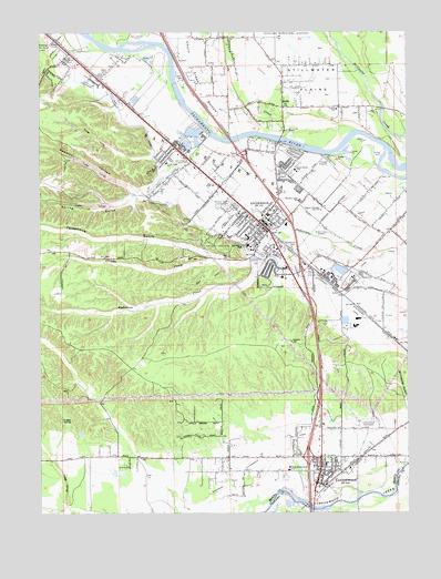 Cottonwood CA Topographic Map  TopoQuest