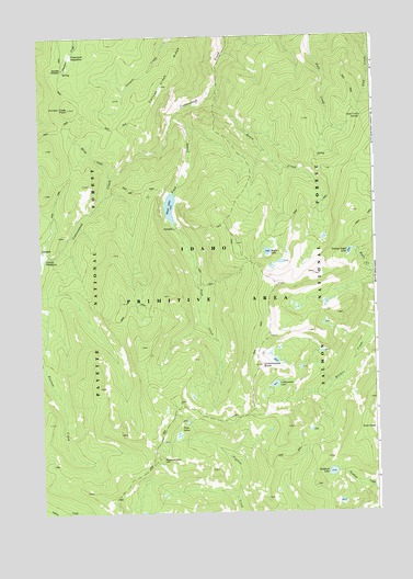 Cottonwood Butte ID Topographic Map  TopoQuest