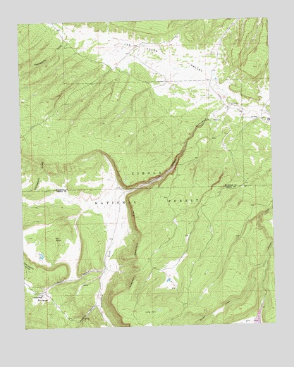 Cottonwood Canyon NM Topographic Map  TopoQuest