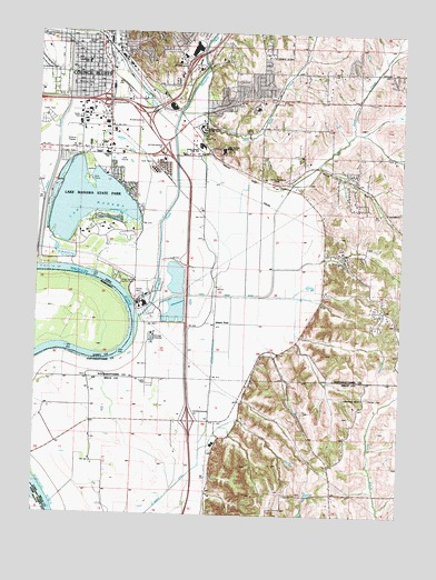 Council Bluffs South, IA USGS Topographic Map
