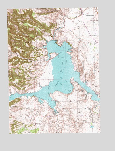 Angostura Reservoir, SD USGS Topographic Map