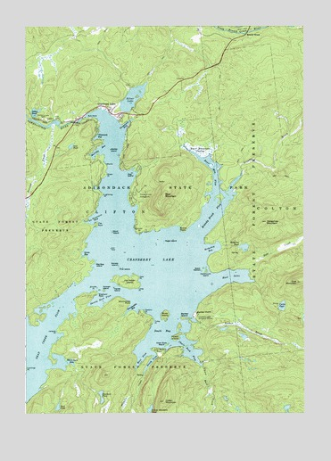 Cranberry Lake, NY USGS Topographic Map