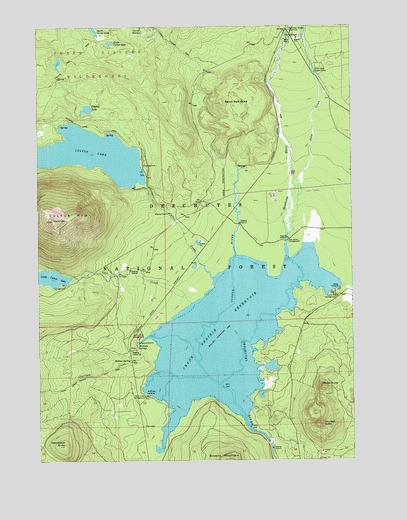 Crane prairie reservoir or topographic map topoquest for Wickiup reservoir fishing