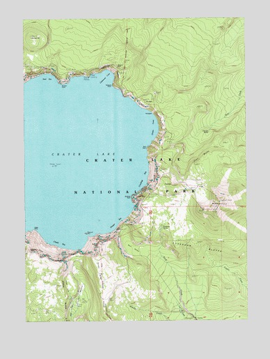 Crater Lake Topographic Map.Crater Lake East Or Topographic Map Topoquest