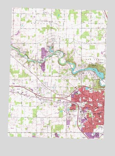 Ann Arbor West Mi Topographic Map Topoquest