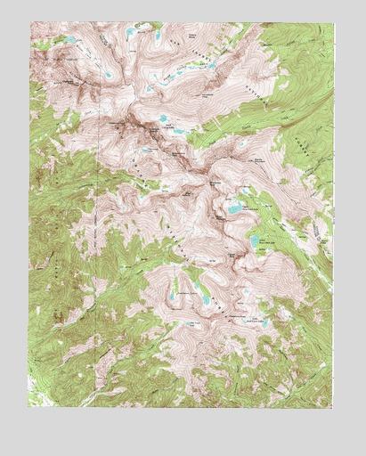 Crestone Peak Co Topographic Map Topoquest