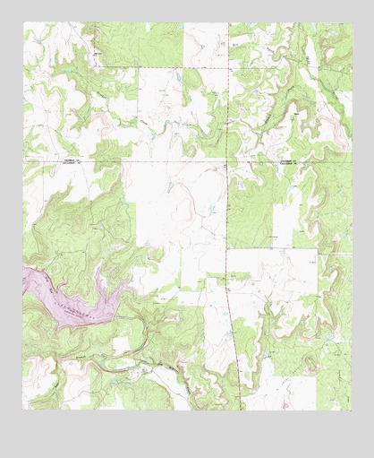 Crooked Creek, TX USGS Topographic Map