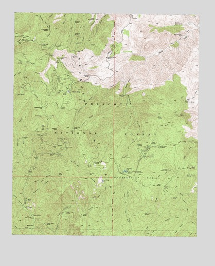 Map Of Crown King Arizona.Crown King Az Topographic Map Topoquest