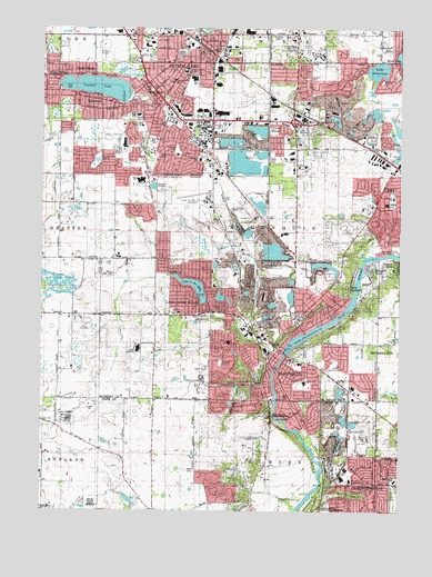 Crystal Lake Illinois Map.Crystal Lake Il Topographic Map Topoquest