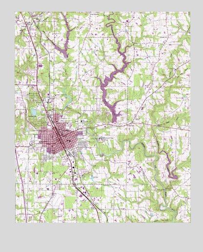 Cullman, AL Topographic Map - TopoQuest