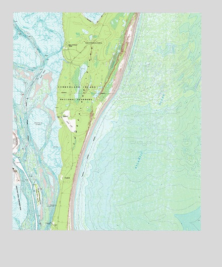 Cumberland Island South Ga Topographic Map Topoquest