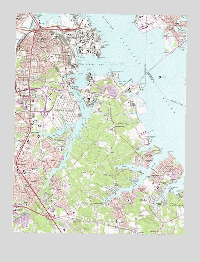 Curtis Bay, MD USGS Topographic Map