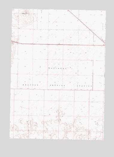 Antelope Butte, ID USGS Topographic Map