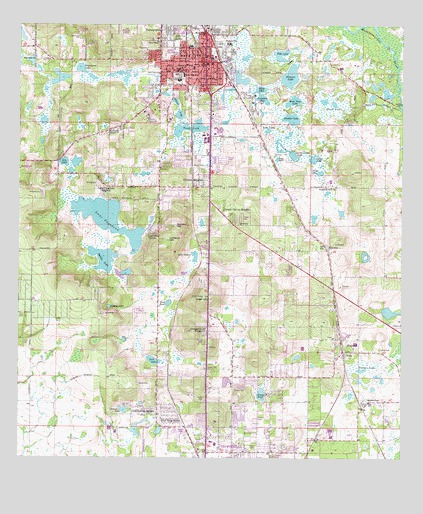 Dade City, FL Topographic Map - TopoQuest on