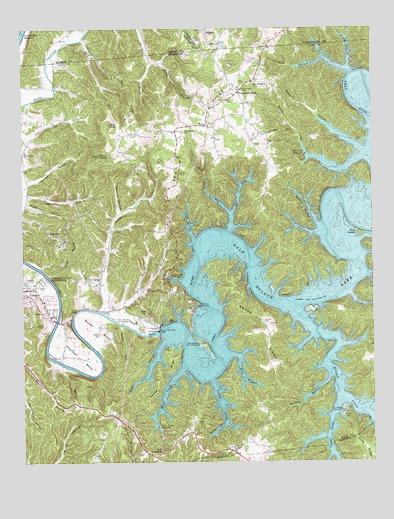 Dale Hollow Dam, TN Topographic Map - TopoQuest on
