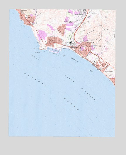 Dana Point, CA Topographic Map - TopoQuest on