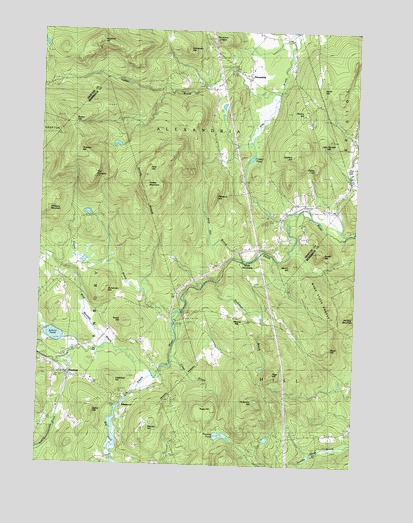 Danbury, NH USGS Topographic Map