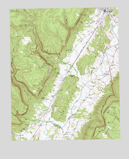 Daus, TN USGS Topographic Map