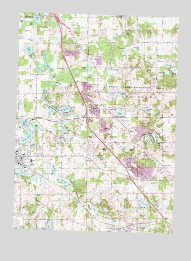 Davisburg, MI Topographic Map   TopoQuest