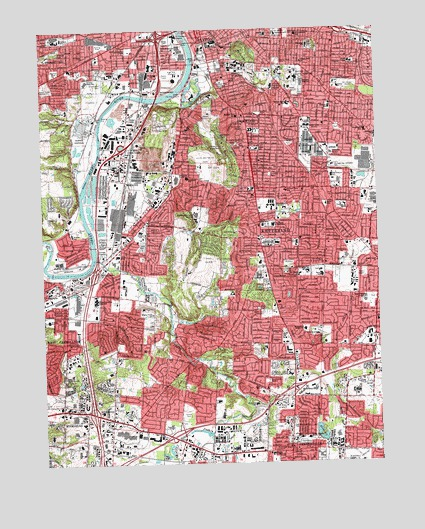 Topography Map Of Ohio.Dayton South Oh Topographic Map Topoquest