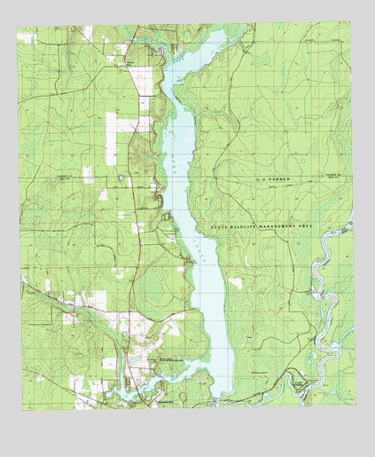 Dead Lakes FL Topographic Map TopoQuest - Map of florida lakes