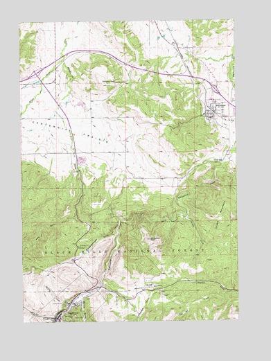 Deadwood North, SD Topographic Map - TopoQuest on