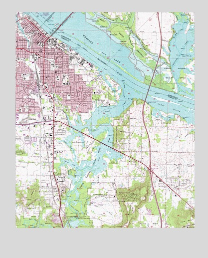 Decatur, AL Topographic Map - TopoQuest