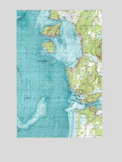 Deception Pass, WA USGS Topographic Map