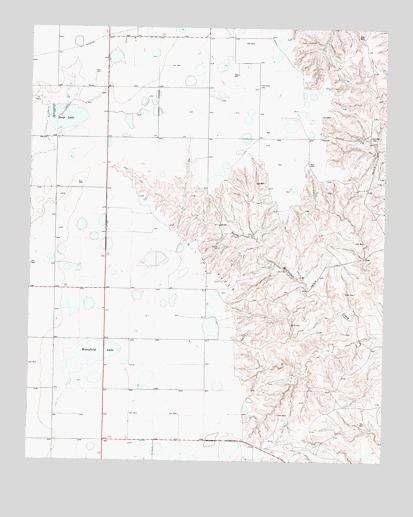 Deep Lake, TX USGS Topographic Map