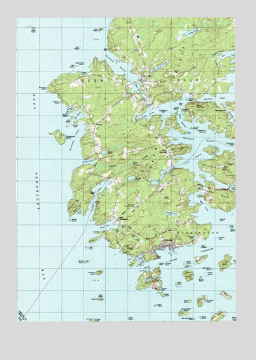 map of stonington maine Deer Isle Me Topographic Map Topoquest map of stonington maine