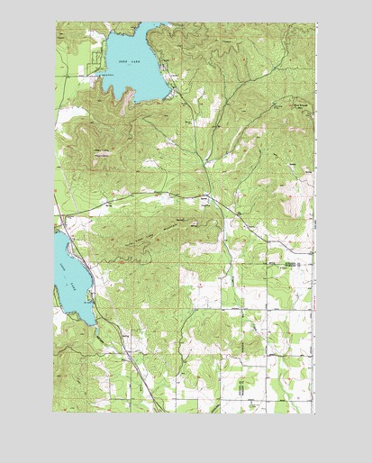 Deer Lake Wa Topographic Map Topoquest