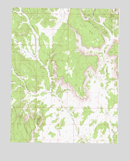 Deer Spring Point, UT USGS Topographic Map