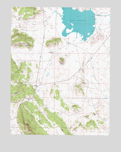 Antero Reservoir, CO USGS Topographic Map