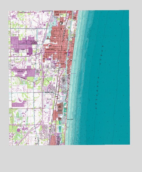 Map Of Delray Beach Florida.Delray Beach Fl Topographic Map Topoquest