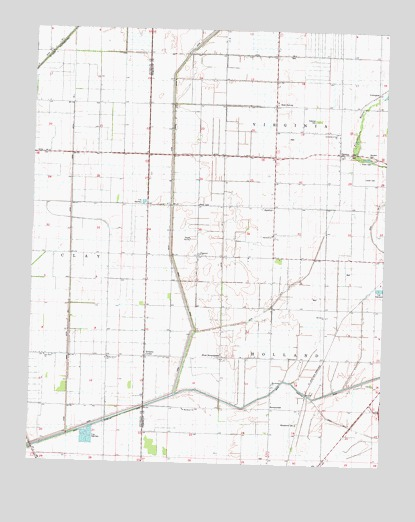 Denton, MO USGS Topographic Map