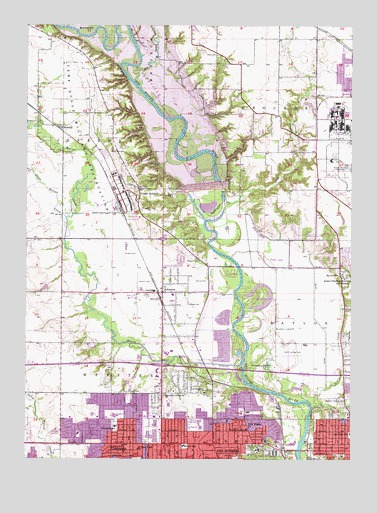 Des Moines NW, IA Topographic Map - TopoQuest on