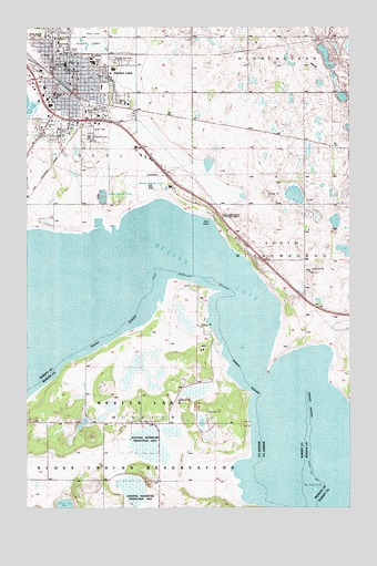 Devils Lake, ND Topographic Map - TopoQuest on