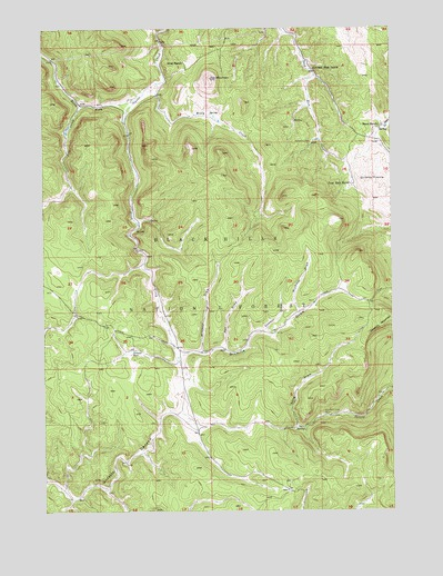 Ditch Creek, SD USGS Topographic Map