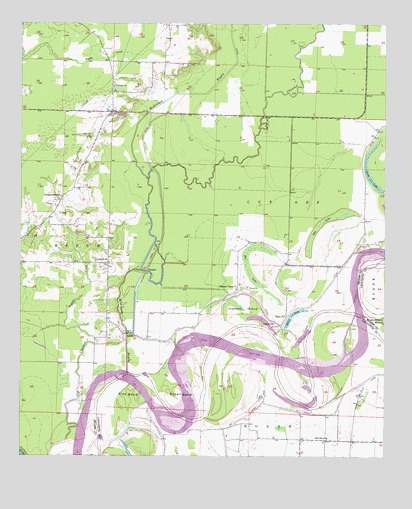 Doddridge NE, AR USGS Topographic Map