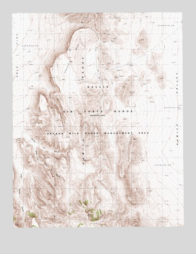 Apache Tear Canyon, NV USGS Topographic Map