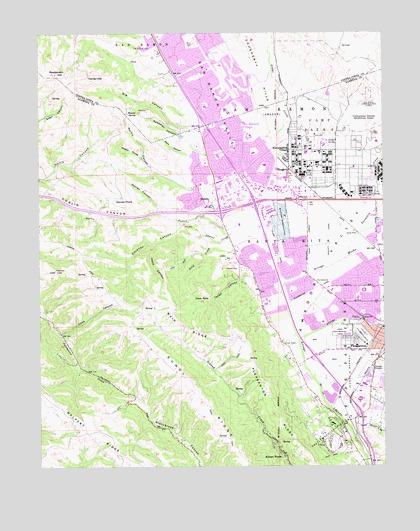 Dublin, CA Topographic Map - TopoQuest on