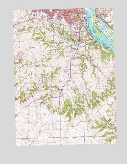 Dubuque South Ia Topographic Map Topoquest