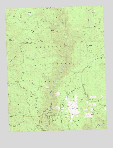 Duckwall Mountain, CA USGS Topographic Map