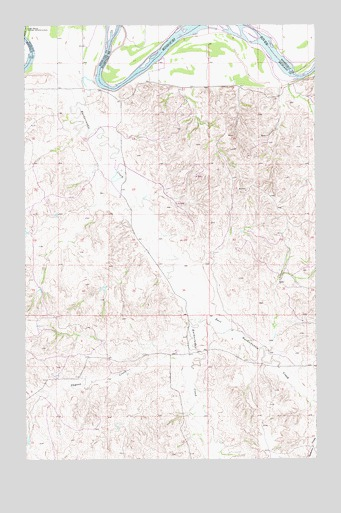 Dugout Creek, MT USGS Topographic Map