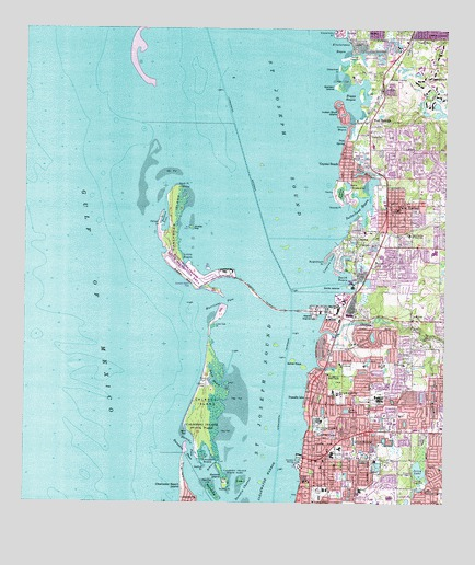 Map Of Dunedin Florida.Dunedin Fl Topographic Map Topoquest