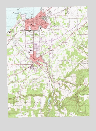 Dunkirk, NY USGS Topographic Map