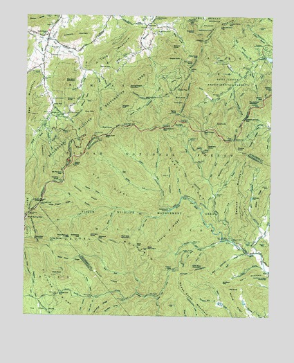 Dunsmore Mountain, NC USGS Topographic Map