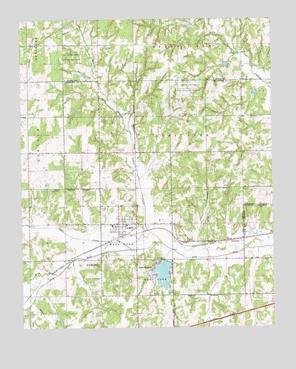 Arcadia, OK Topographic Map - TopoQuest
